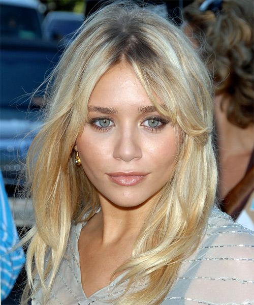 Ashley Olsen Long Straight Casual    Hairstyle   - Light Blonde Hair Color