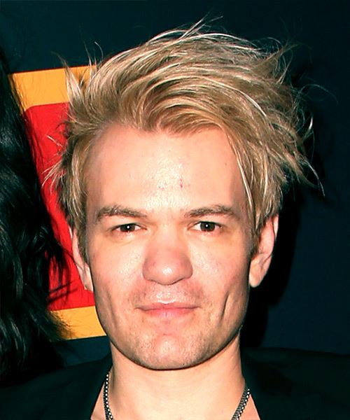 Deryck Whibley Short Straight Casual    Hairstyle with Side Swept Bangs  -  Blonde and Light Blonde Two-Tone Hair Color