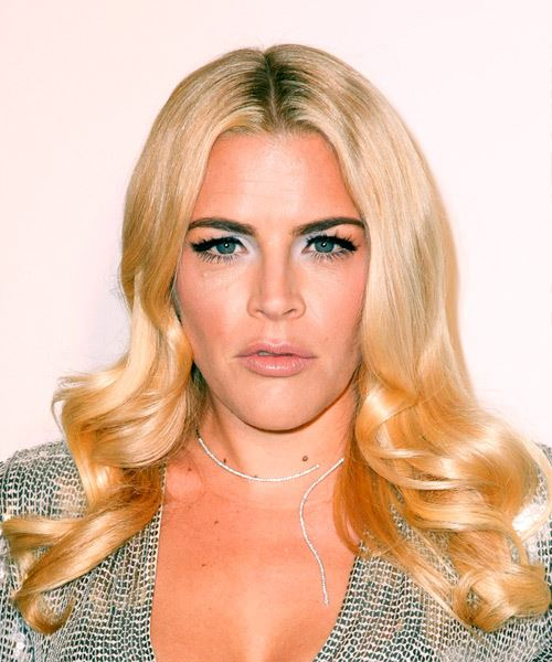 Busy Philipps Long Wavy Casual    Hairstyle   - Light Blonde Hair Color