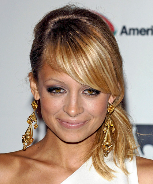 Nicole Richie Long Straight Formal   Updo Hairstyle
