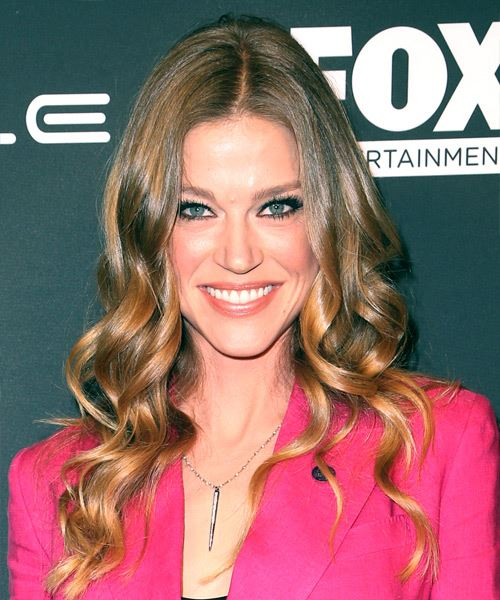Adrianne Palicki Long Wavy Casual    Hairstyle   -  Brunette and  Blonde Two-Tone Hair Color