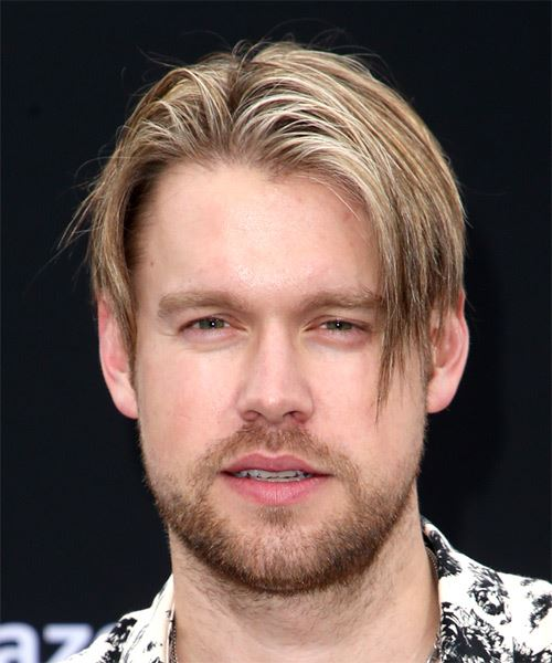 Chord Overstreet Short Straight    Blonde   Hairstyle with Blunt Cut Bangs