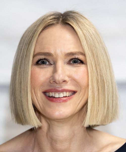 Naomi Watts Short Straight Blonde Bob Haircut