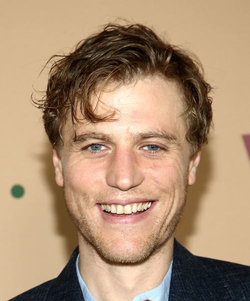 Johnny Flynn Short Wavy   Dark Brunette   Hairstyle with Side Swept Bangs