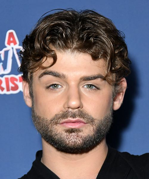 Garrett Clayton Short Wavy   Black    Hairstyle with Layered Bangs