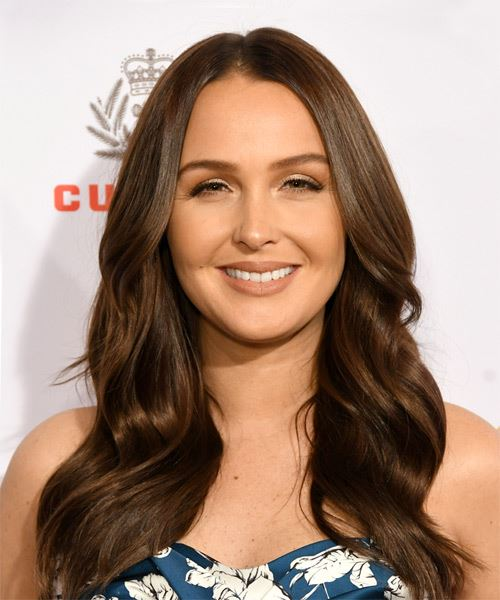 Camilla Luddington Long Straight   Dark Brunette   Hairstyle with Layered Bangs