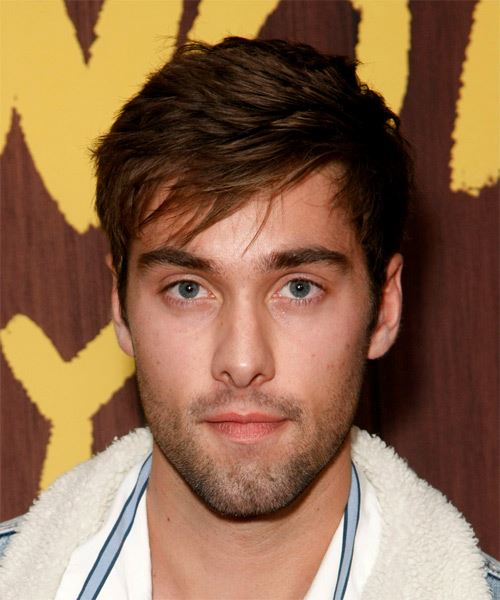 Austin North Short Straight    Brunette   Hairstyle with Blunt Cut Bangs