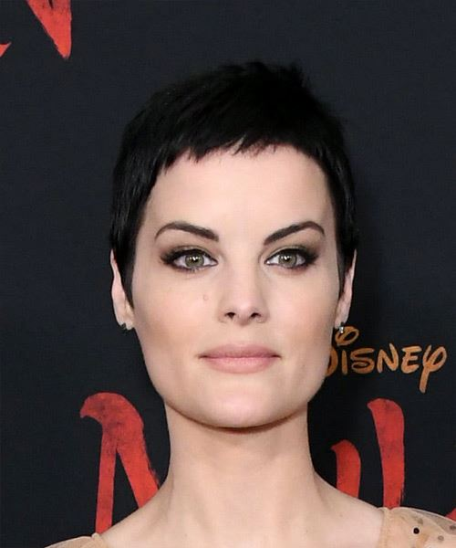 Jaimie Alexander     Black  Pixie  Cut