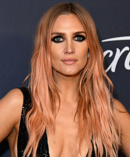 Ashlee Simpson Long Straight   Pink    Hairstyle