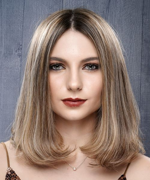 Medium Straight    Grey Brunette Bob  Haircut