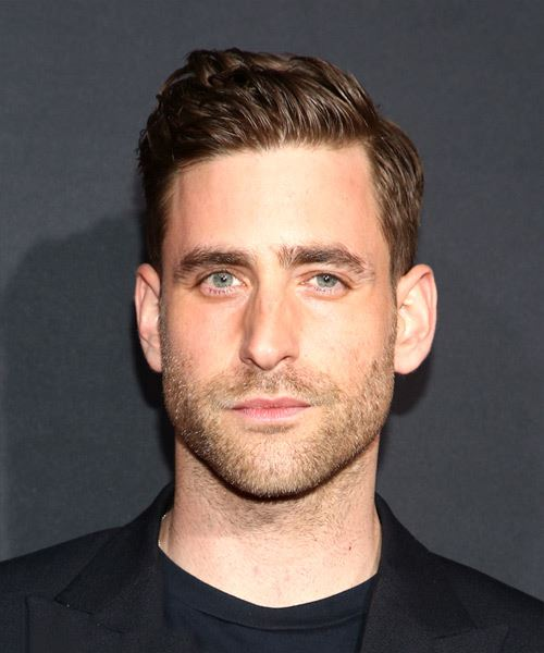 Oliver Jackson Cohen Short Straight   Black    Hairstyle with Blunt Cut Bangs