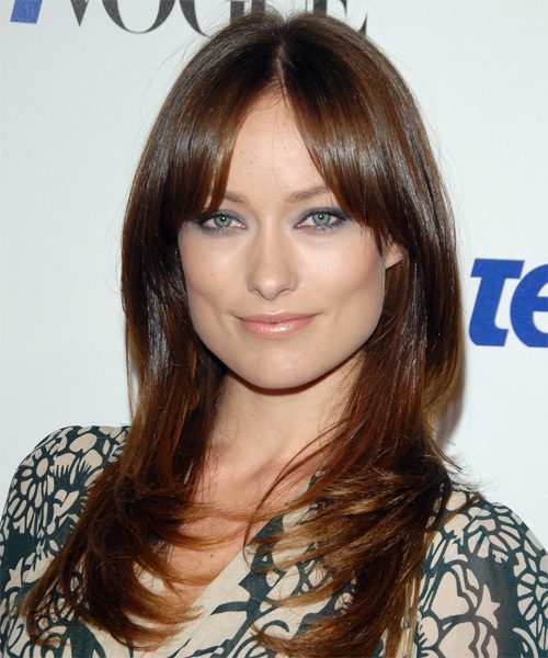 Olivia Wilde Long Straight Casual   Hairstyle
