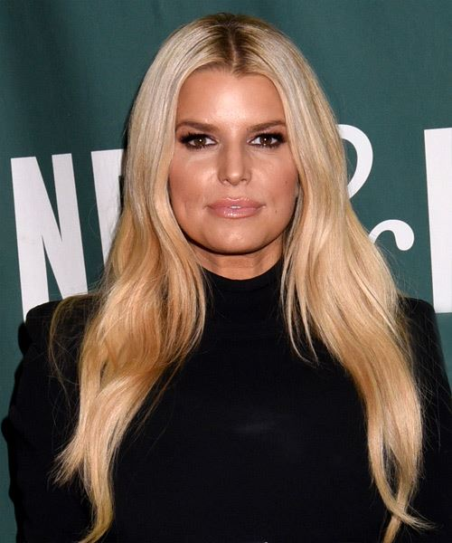 Jessica Simpson Long Straight    Blonde   Hairstyle