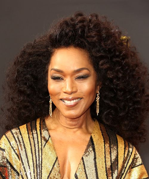 Angela Bassett Long Curly   Black  Afro  Hairstyle