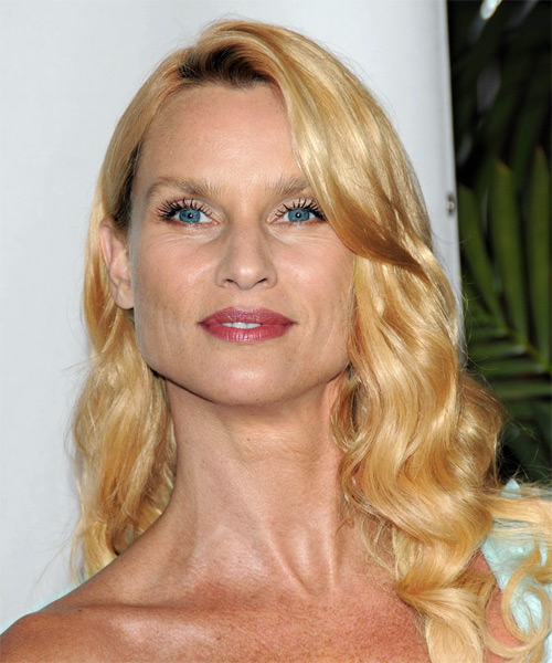 Nicollette Sheridan Long Wavy Casual   Hairstyle