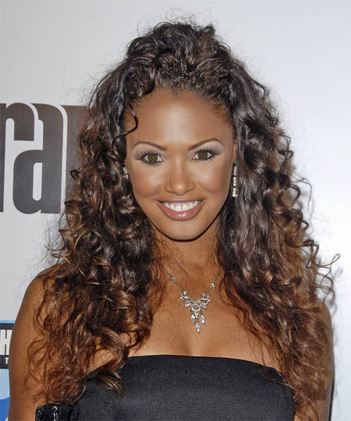 K.D. Aubert Long Curly Hairstyle