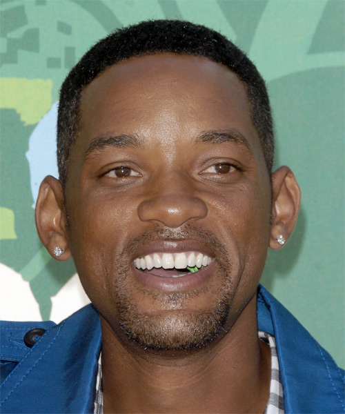 Will Smith Short Curly Casual   Hairstyle
