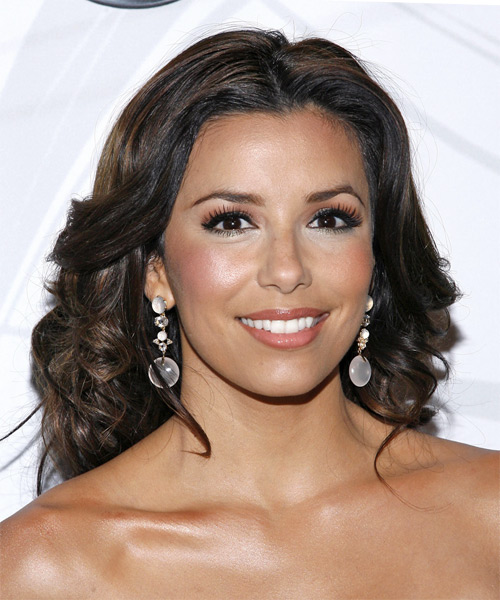 Eva Longoria Parker Long Wavy Formal   Hairstyle