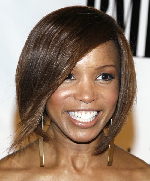 Elise Neal Medium Straight Casual   Hairstyle