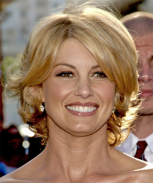 Faith Hill Medium Wavy Formal   Hairstyle