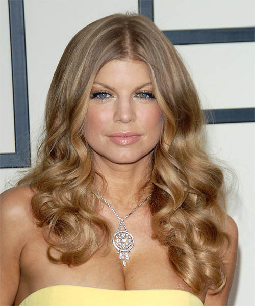 Fergie Long Curly Formal   Hairstyle