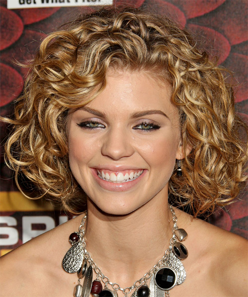 AnnaLynne McCord Medium Curly     Hairstyle