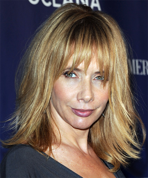 Rosanna Arquette Long Straight Casual   Hairstyle