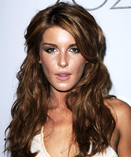Shenae Grimes  Long Curly Casual   Half Up Hairstyle