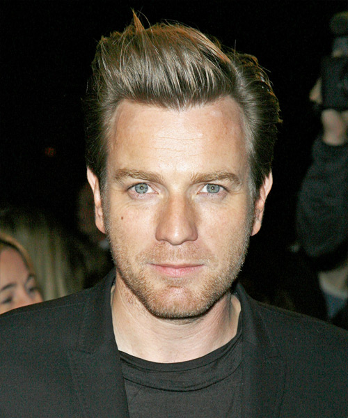 Ewan Mcgregor Formal Short Straight Hairstyle
