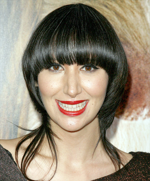 Karen O Long Straight Alternative   Hairstyle