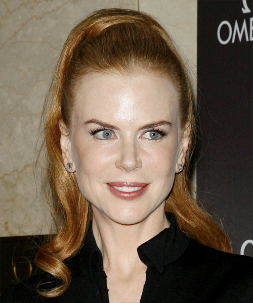Nicole Kidman  Long Curly Formal   Updo Hairstyle