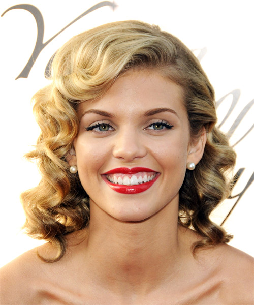 AnnaLynne McCord Long Curly Formal   Hairstyle
