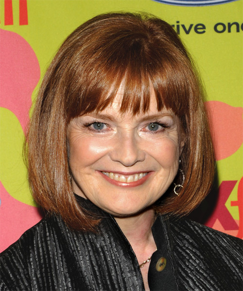 Blair Brown Medium Straight Formal   Hairstyle