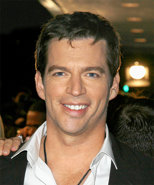 Harry Connick Jr Short Straight Casual   Hairstyle   - Medium Brunette (Ash)