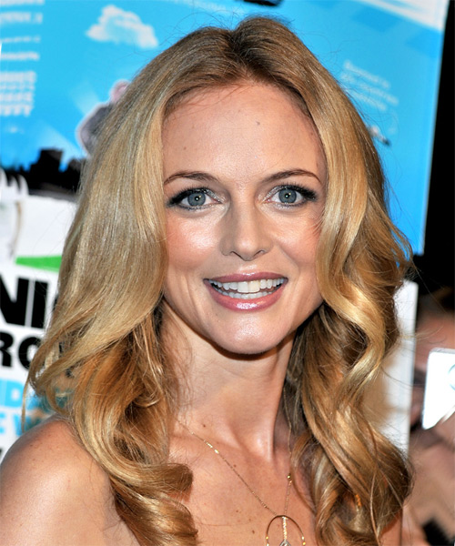 Heather Graham Long Wavy Formal    Hairstyle   - Dark Blonde Hair Color