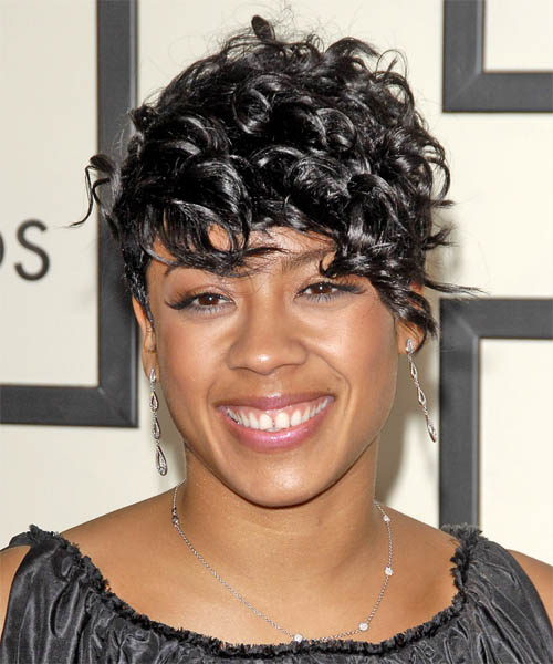 Keyshia Cole Short Wavy Formal    Hairstyle