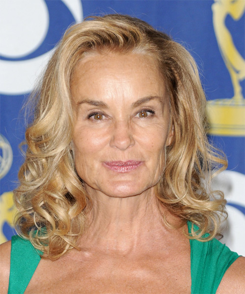 Jessica Lange Long Wavy Formal Hairstyle