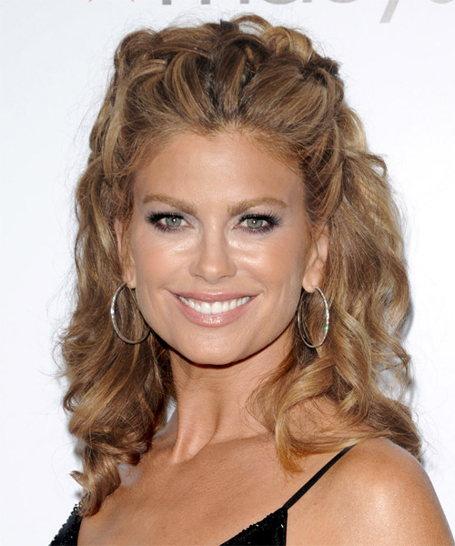Kathy Ireland Half Up Long Curly Formal  Half Up Hairstyle