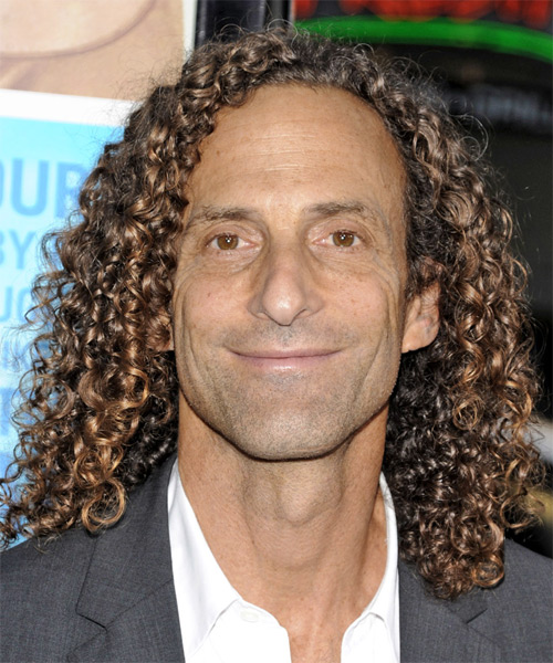 Kenny G Long Curly Casual Hairstyle