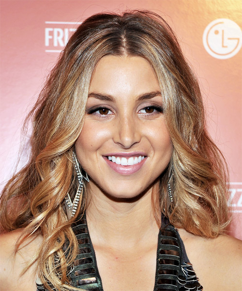 Whitney Port Long Wavy Casual   Hairstyle