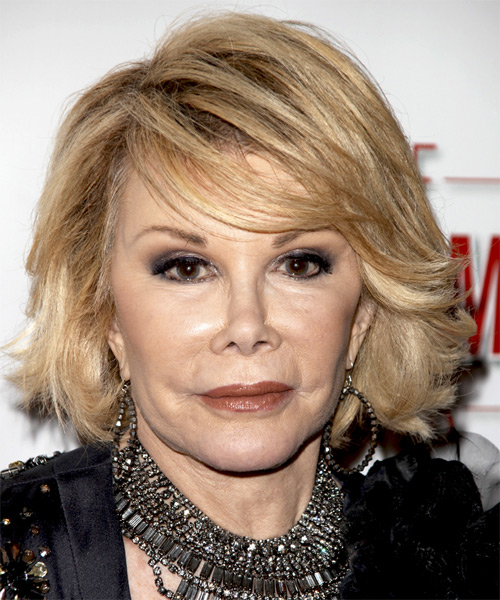Joan Rivers Medium Straight Formal   Hairstyle