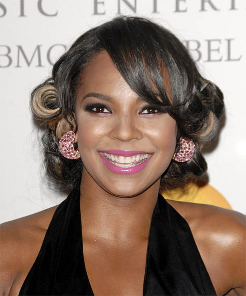 Ashanti  Long Curly Formal   Updo Hairstyle