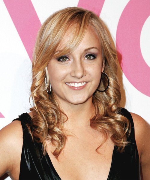 Nastia Liukin Long Wavy Formal   Hairstyle