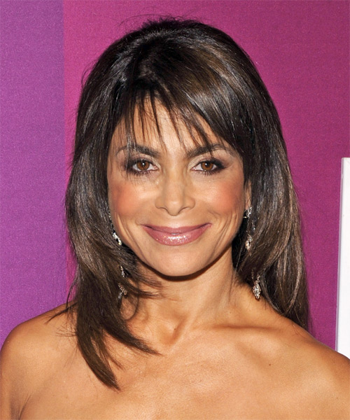 Paula Abdul Long Straight Casual   Hairstyle