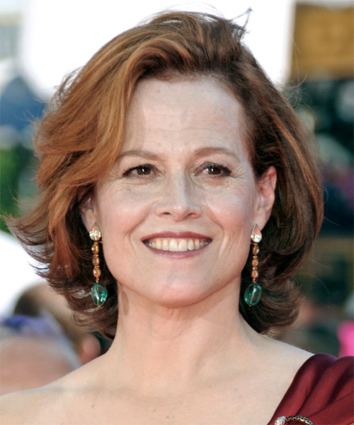Sigourney Weaver Medium Straight Casual   Hairstyle