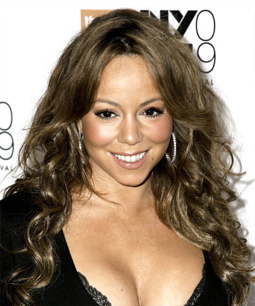 Mariah Carey Long Curly Casual Hairstyle