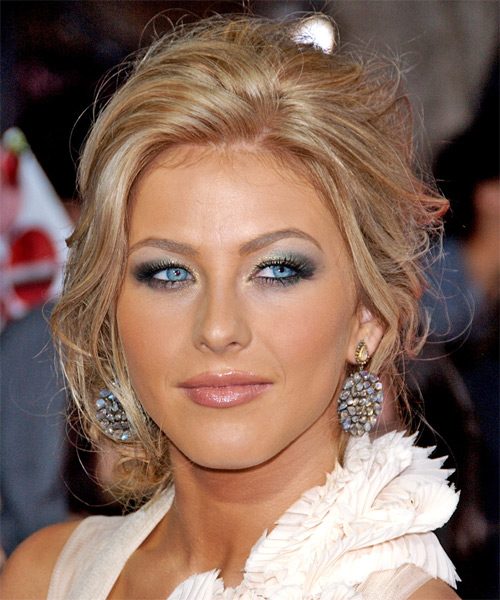 Julianna Hough  Long Curly Formal   Updo Hairstyle