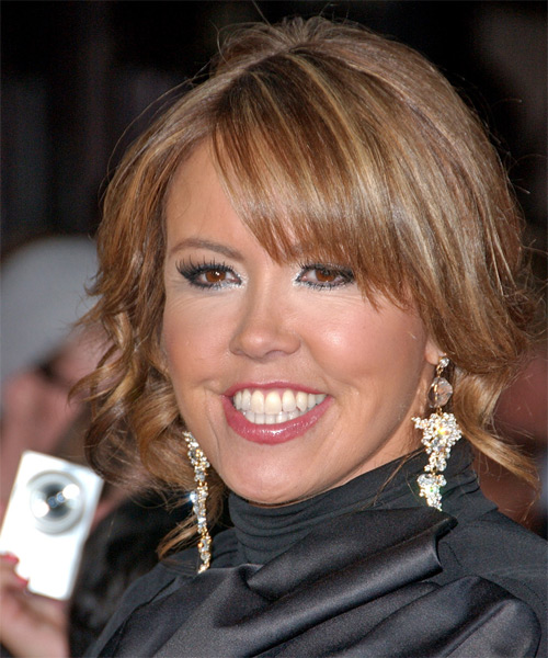 Mary Murphy  Medium Curly Formal   Updo Hairstyle