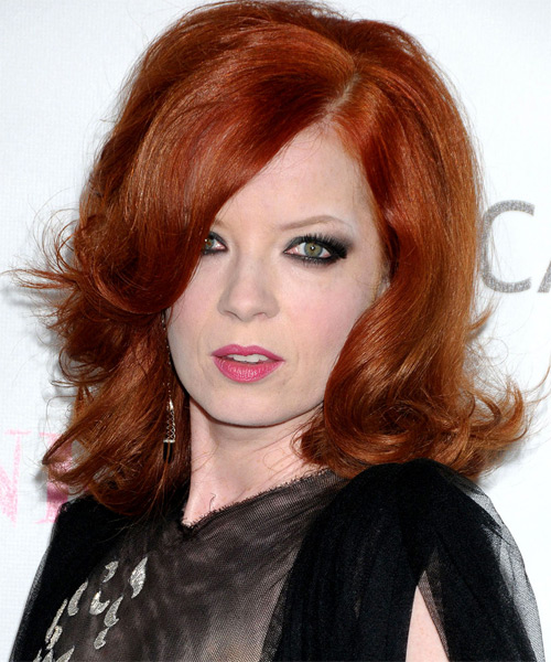Shirley Manson Medium Wavy Hairstyle