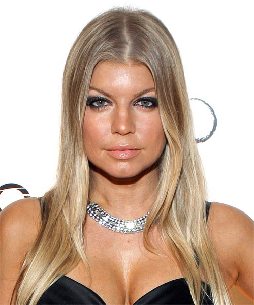 Fergie Long Straight Formal   Hairstyle
